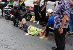 Cihangirde ehliyetsiz motosikletlinin çarptığı kişi ağır yaralandı
