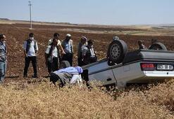 Şanlıurfada takla atan otomobilin sürücüsü yaralandı