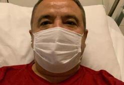 Corona tedavisi gören başkan hasta yatağından seslendi