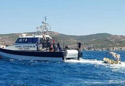 Foçada 4 kişinin öldüğü, kayıp Sarpın arandığı faciada tekneye ulaşıldı