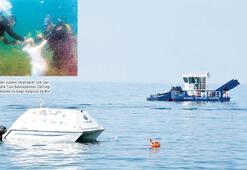 İnsansız tekne 'doris' denizden çöp topladı