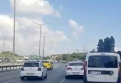 """İstanbul'da magandaların """"makas"""" terörü kamerada"""