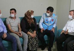 Bakan Soylu ve Kurumdan selde eşi kaybolan Zeynep Akara ziyaret