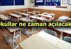 Okullar ne zaman açılıyor 2020 - 2021   İşte MEB takvimi