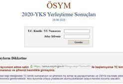 YKS tercih sonuçları açıklandı ÖSYM giriş ile YKS tercih sonucu sorgulama...