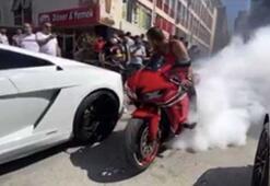 """İstanbul'da motosikletli magandaların """"drift"""" terörü"""