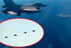 Son dakika... Havada şok anlar Türk savaş uçakları Yunan jetlerinin önünü kesti...