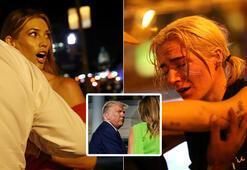 Trumpın burnundan geldi Beyaz Saray önünde şok anlar...