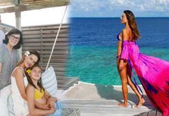 Alessandra Ambrosio kızını lüks tatil köyüne götürdü