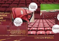 Galatasarayın VIP koltuk satışı 1 Eylülde başlayacak