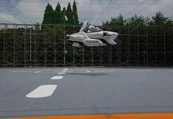 Uçan araba havalandı