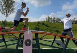 David Beckham, ayak tenisinde oğluna meydan okudu