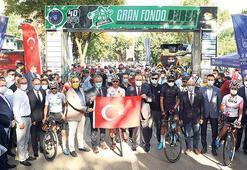 Bursa'da uluslararası bisiklet yarışı