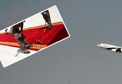 Son dakika... Uçak indi Dünya saniye saniye izledi
