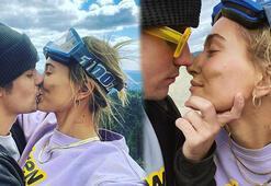Hailey Baldwin-Justin Bieberdan dudak dudağa poz