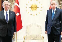 Erdoğan, Mansur Yavaş'ı kabul etti