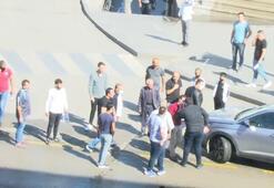 Erzurumda kaza sonrası yumruklar konuştu