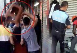 Esenyurt'ta işportacıyı korumak için zabıtaya sandalyeli saldırı