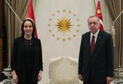 Erdoğan, Parlamentolararası Birlik Başkanı Barronu  kabul etti