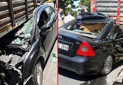 Avcılar'daki trafik kazasında mucize kurtuluş