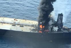 2 milyon varil taşıyan tanker yandı 1 kişi öldü