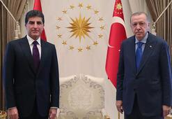 Son dakika Cumhurbaşkanı Erdoğan Barzaniyi kabul etti