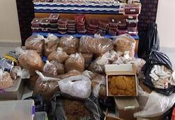 Edirnede 107 kilo kaçak tütün ele geçirildi