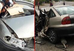 Zonguldak'ta feci kaza Bu araçtan sağ çıktı