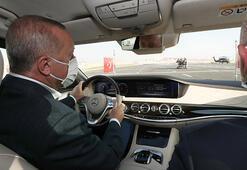 Ankarada büyük gün Test sürüşünü bizzat Cumhurbaşkanı Erdoğan yaptı