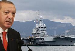 Merkel ile görüşmede Erdoğan'dan sert Fransa tepkisi: O uçak gemisi niye geliyor
