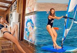 Çeşmede sörf, Bodrumda resim