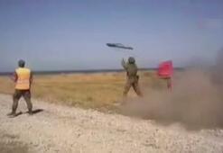 Rus yapımı roket askerin omzunda patladı