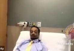 Polis kurşunuyla vurulan ABDli Blake, hastane odasından göstericilere seslendi
