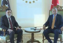 Cumhurbaşkanı Erdoğan, Libya Başbakanı Serracı kabul etti