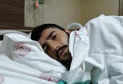 Başına yorgun mermi isabet eden genç yaralandı