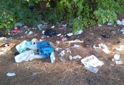 İsyan ettiren görüntü Piknik alanı çöplüğe döndü