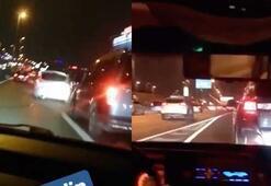 "İstanbul trafiğinde ""makas"" terörü kamerada"