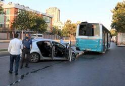 İstanbul Ataşehirde otomobil otobüse çarptı Aracın sürücüsü hayatını kaybetti