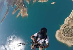 Ermenekte wingsuit ve yamaç paraşütü heyecanı