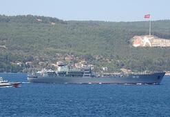 Rus savaş gemisi 'Andreevsky' Çanakkale Boğazı'nda