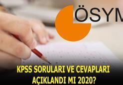 KPSS soruları cevapları bugün açıklandı mı 2020 Genel kültür, genel yetenek KPSS lisans soruları ve cevapları ne zaman yayımlanır