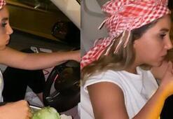 Çiğ köfte yiyerek otomobil kullanmıştı Yakalandı