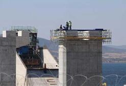 Simgelerin köprüsünde geçici çalışma halatı montajı başladı