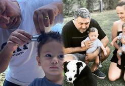 Mustafa Uslu oğullarını tıraş etti