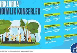 Parklarda tadımlık konserler