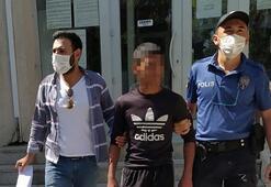 Hırsızlık suçundan 64 kaydı olan 15 yaşındaki şüpheli tutuklandı