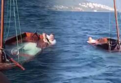 Denizde can pazarı Son anda kurtarıldılar