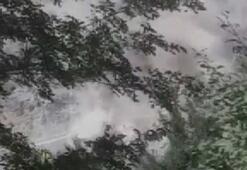 Malatyadaki deprem anında toz bulutu oluştu