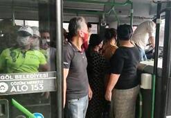 Corona virüs tedbirlerini hiçe saydılar 40 yolcu taşıyan sürücüye ceza