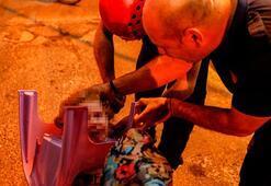 Minik çocuk dehşeti yaşadı Kafası sandalyeye sıkıştı